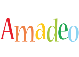 Amadeo birthday logo