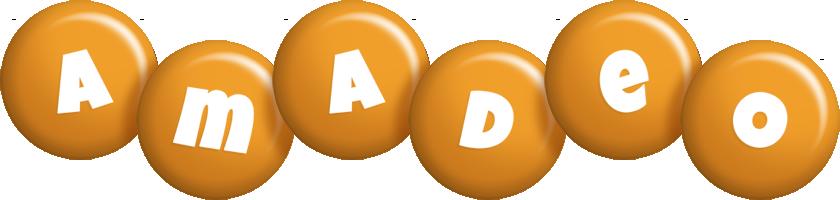 Amadeo candy-orange logo