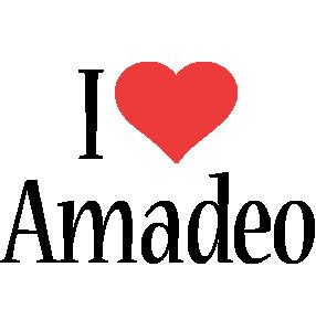 Amadeo i-love logo