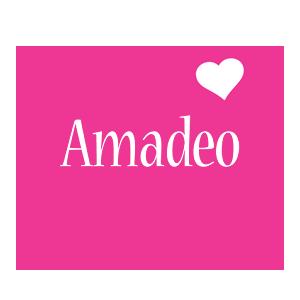 Amadeo love-heart logo