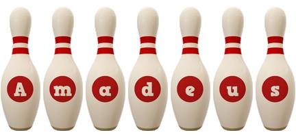 Amadeus bowling-pin logo