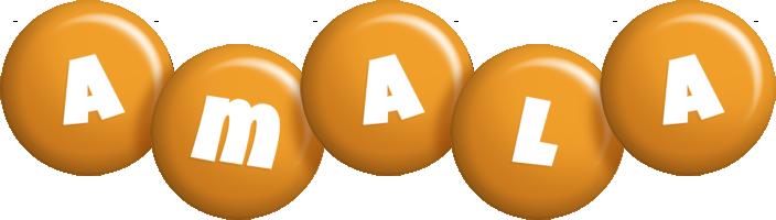 Amala candy-orange logo
