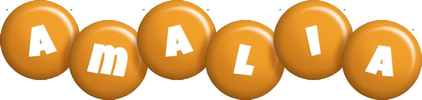 Amalia candy-orange logo