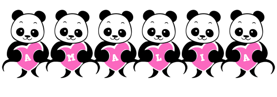 Amalia love-panda logo