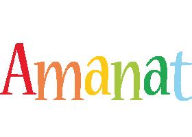 Amanat birthday logo
