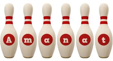 Amanat bowling-pin logo