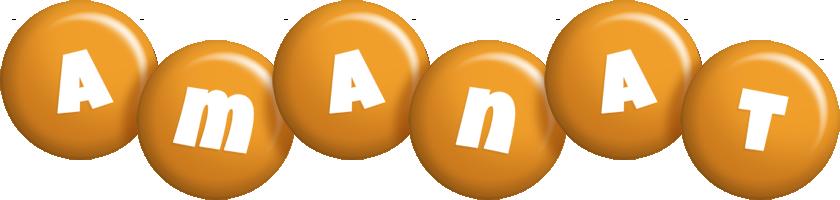 Amanat candy-orange logo