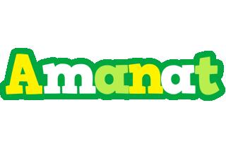 Amanat soccer logo