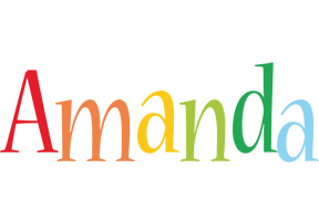 Amanda birthday logo