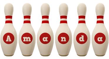 Amanda bowling-pin logo
