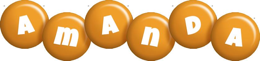 Amanda candy-orange logo