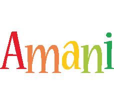 Amani birthday logo