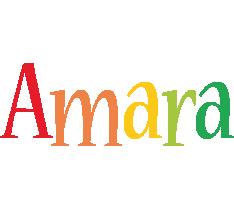 Amara birthday logo