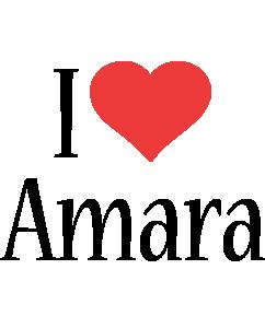 Amara i-love logo