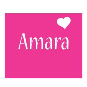 Amara love-heart logo