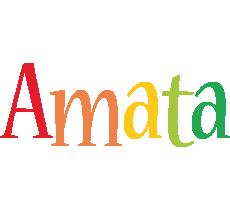 Amata birthday logo