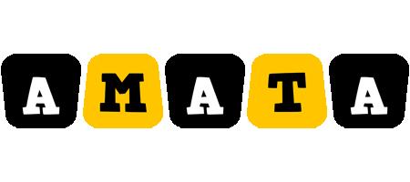Amata boots logo