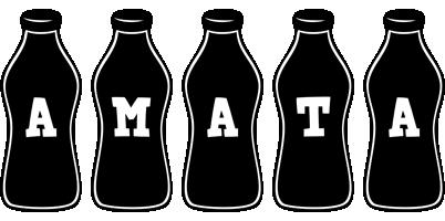 Amata bottle logo
