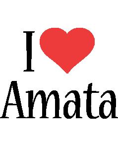 Amata i-love logo
