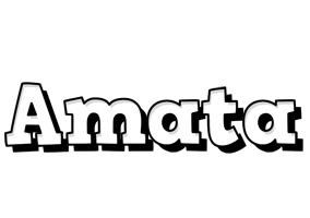 Amata snowing logo