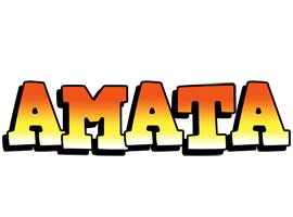 Amata sunset logo