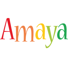 Amaya birthday logo