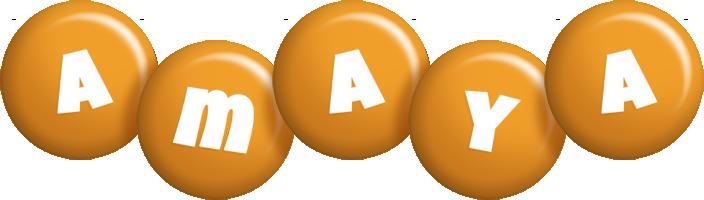 Amaya candy-orange logo