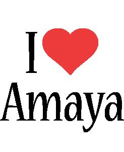 Amaya i-love logo