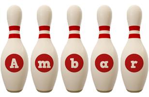 Ambar bowling-pin logo
