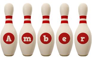 Amber bowling-pin logo