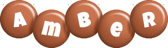 Amber candy-brown logo