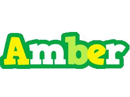 Amber soccer logo