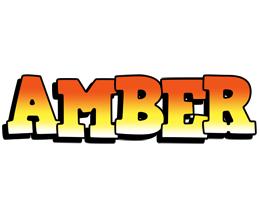 Amber sunset logo