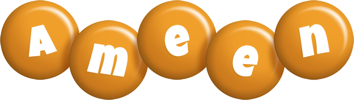 Ameen candy-orange logo