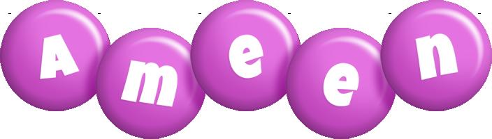 Ameen candy-purple logo