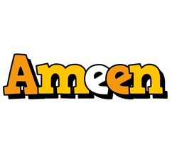 Ameen cartoon logo