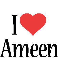 Ameen i-love logo