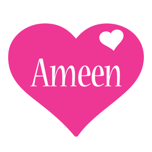 Ameen love-heart logo