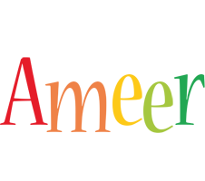 Ameer birthday logo