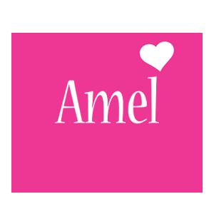 Amel love-heart logo