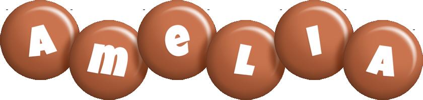 Amelia candy-brown logo