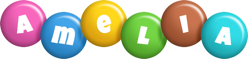 Amelia candy logo