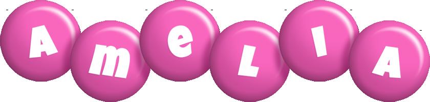Amelia candy-pink logo