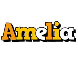 Amelia cartoon logo
