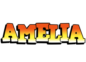 Amelia sunset logo