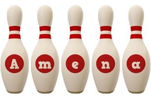 Amena bowling-pin logo