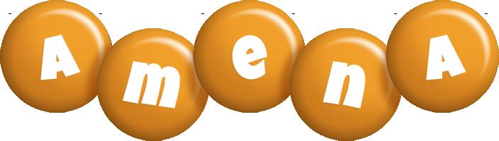 Amena candy-orange logo