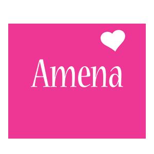 Amena love-heart logo