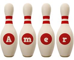 Amer bowling-pin logo