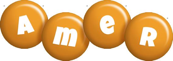 Amer candy-orange logo